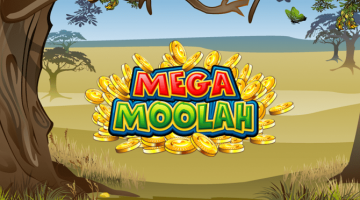 Logo Mega Moolah Slot Machine.